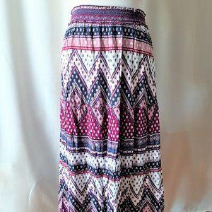 Denver Hayes Rayon Maxi Skirt Size Large